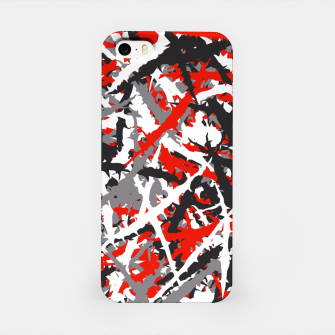 Thumbnail image of Red grunge camouflage iPhone Case, Live Heroes