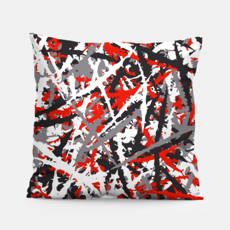 Thumbnail image of Red grunge camouflage Pillow, Live Heroes