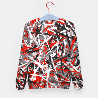 Thumbnail image of Red grunge camouflage Kid's sweater, Live Heroes