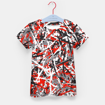 Thumbnail image of Red grunge camouflage Kid's t-shirt, Live Heroes