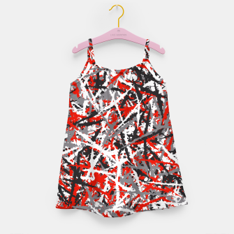 Thumbnail image of Red grunge camouflage Girl's dress, Live Heroes
