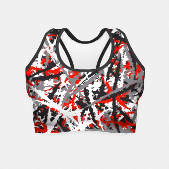 Thumbnail image of Red grunge camouflage Crop Top, Live Heroes