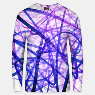 Thumbnail image of Violet Graffiti Abstract Lines Unisex sweater, Live Heroes