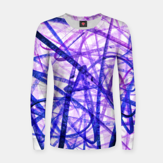 Thumbnail image of Violet Graffiti Abstract Lines Women sweater, Live Heroes