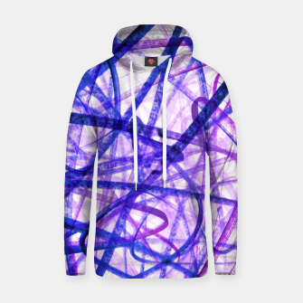 Thumbnail image of Violet Graffiti Abstract Lines Hoodie, Live Heroes