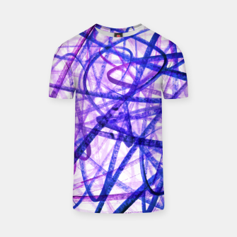 Thumbnail image of Violet Graffiti Abstract Lines T-shirt, Live Heroes