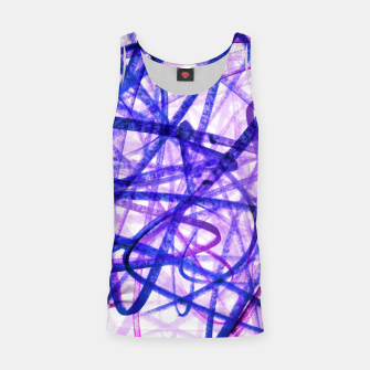 Thumbnail image of Violet Graffiti Abstract Lines Tank Top, Live Heroes