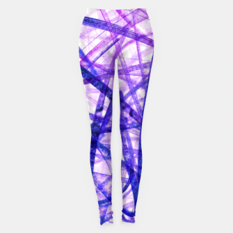 Thumbnail image of Violet Graffiti Abstract Lines Leggings, Live Heroes