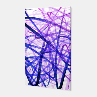 Thumbnail image of Violet Graffiti Abstract Lines Canvas, Live Heroes