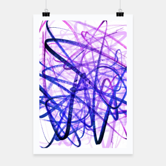 Thumbnail image of Violet Graffiti Abstract Lines Poster, Live Heroes