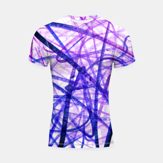 Thumbnail image of Violet Graffiti Abstract Lines Shortsleeve rashguard, Live Heroes