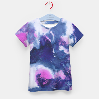 Miniaturka Blue Pink Abstract Painting #1 #ink #decor #art T-Shirt für kinder, Live Heroes