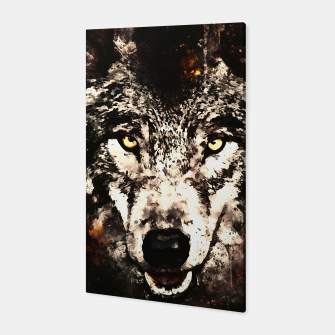 Thumbnail image of wolf threatening stare wsfn Canvas, Live Heroes