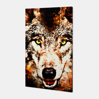 Thumbnail image of wolf threatening stare ws Canvas, Live Heroes