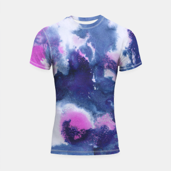 Miniaturka Blue Pink Abstract Painting #1 #ink #decor #art Shortsleeve rashguard, Live Heroes