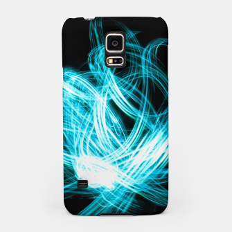 Miniaturka Abstract Blue Light Effect Samsung Case, Live Heroes
