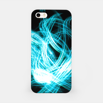 Miniaturka Abstract Blue Light Effect iPhone Case, Live Heroes
