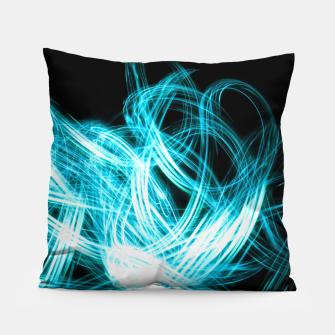 Thumbnail image of Abstract Blue Light Effect Pillow, Live Heroes