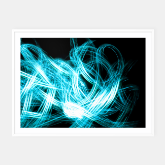 Miniaturka Abstract Blue Light Effect Framed poster, Live Heroes