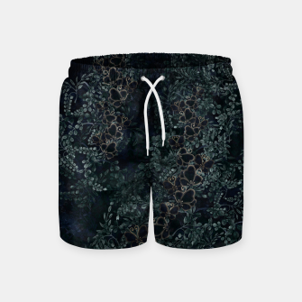 Thumbnail image of Japanese traditional family emblem design Flower and Butterfly Swim Shorts, Live Heroes