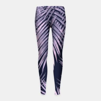 Thumbnail image of Palm Leaf Jungle Night Vibes #2 #tropical #decor #art Kinder-Leggins, Live Heroes