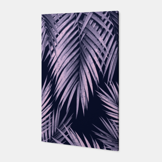 Thumbnail image of Palm Leaf Jungle Night Vibes #2 #tropical #decor #art Canvas, Live Heroes