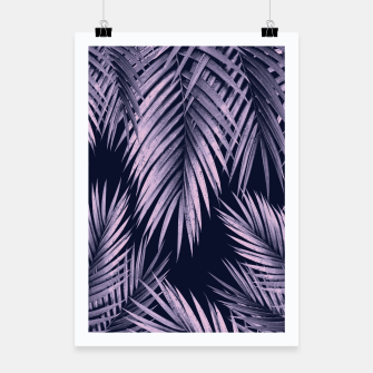 Thumbnail image of Palm Leaf Jungle Night Vibes #2 #tropical #decor #art Plakat, Live Heroes