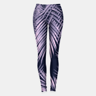 Thumbnail image of Palm Leaf Jungle Night Vibes #2 #tropical #decor #art Leggings, Live Heroes