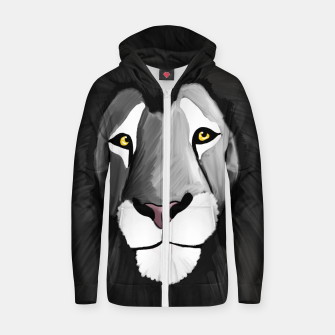 Miniatur The Grey Lion Zip up hoodie, Live Heroes