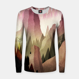 Miniatur The Forest and mountains Women sweater, Live Heroes