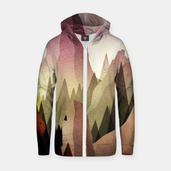 Thumbnail image of The Forest and mountains Zip up hoodie, Live Heroes