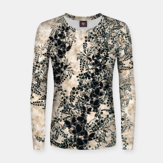 Thumbnail image of Japanese traditional family emblem art Flower and Butterfly white Women sweater, Live Heroes
