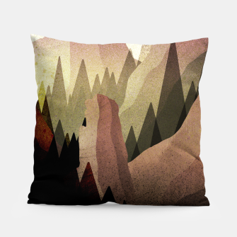 Thumbnail image of The Forest and mountains Pillow, Live Heroes
