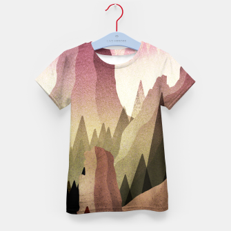 Miniatur The Forest and mountains Kid's t-shirt, Live Heroes