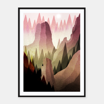 Thumbnail image of The Forest and mountains Framed poster, Live Heroes
