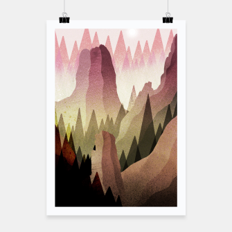 Thumbnail image of The Forest and mountains Poster, Live Heroes