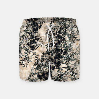 Thumbnail image of Japanese traditional family emblem art Flower and Butterfly white Swim Shorts, Live Heroes