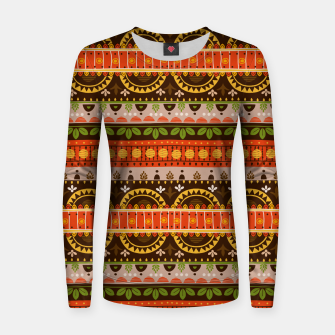 Thumbnail image of Tribal Pattern - 16 Indian Summer Women sweater, Live Heroes
