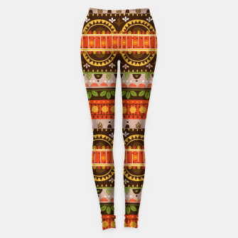 Thumbnail image of Tribal Pattern - 16 Indian Summer Leggings, Live Heroes