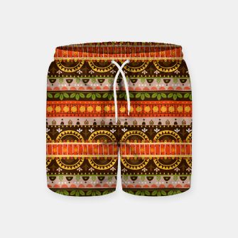 Thumbnail image of Tribal Pattern - 16 Indian Summer Swim Shorts, Live Heroes