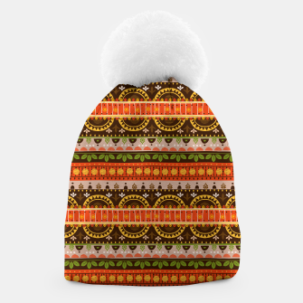 Thumbnail image of Tribal Pattern - 16 Indian Summer Beanie, Live Heroes