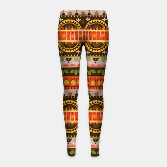 Thumbnail image of Tribal Pattern - 16 Indian Summer Girl's leggings, Live Heroes