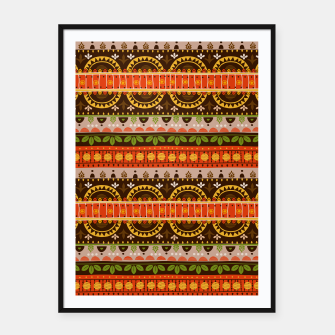 Thumbnail image of Tribal Pattern - 16 Indian Summer Framed poster, Live Heroes