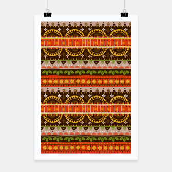 Miniaturka Tribal Pattern - 16 Indian Summer Poster, Live Heroes