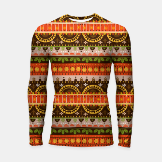 Thumbnail image of Tribal Pattern - 16 Indian Summer Longsleeve rashguard , Live Heroes
