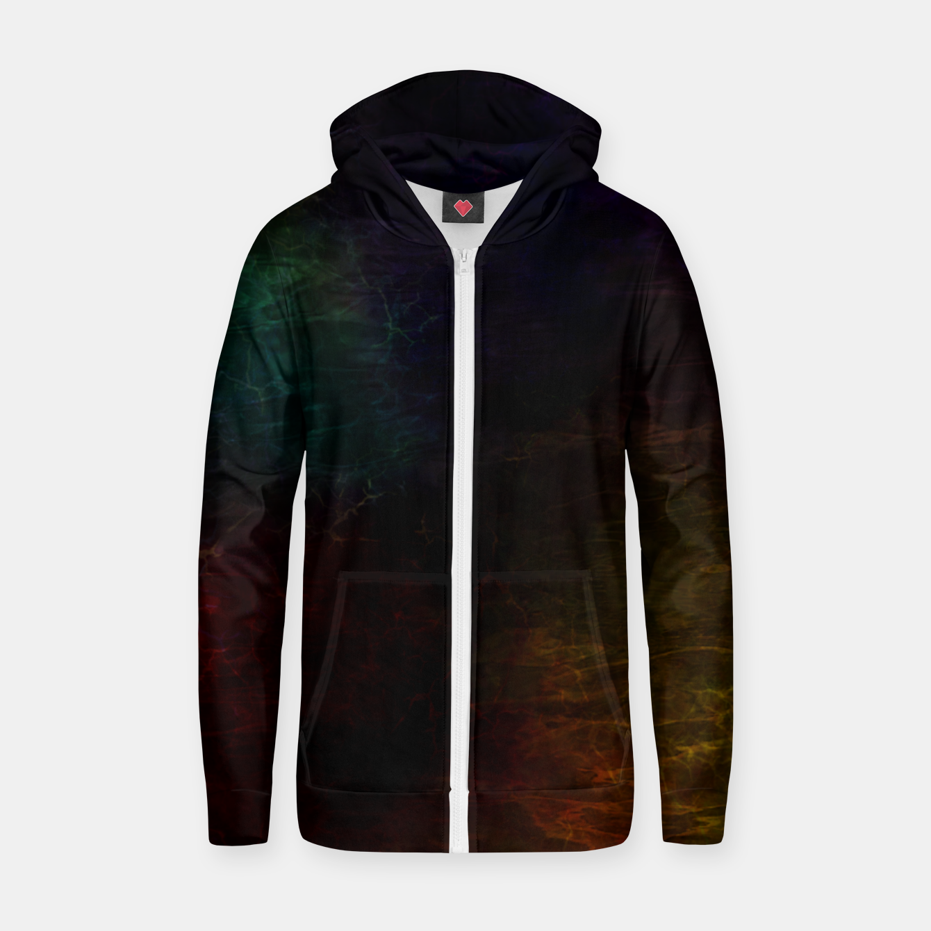 Image of colored water Zip up hoodie - Live Heroes