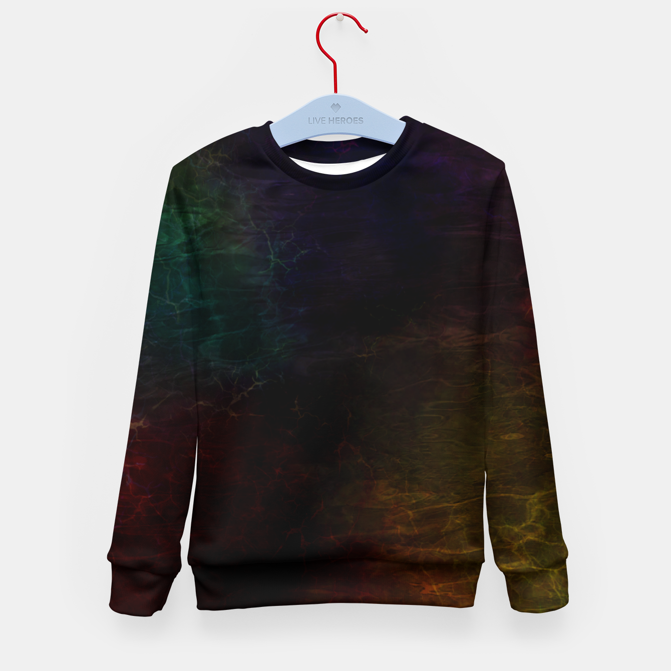 Image of colored water Kid's sweater - Live Heroes