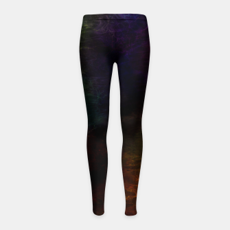 Thumbnail image of colored water Girl's leggings, Live Heroes