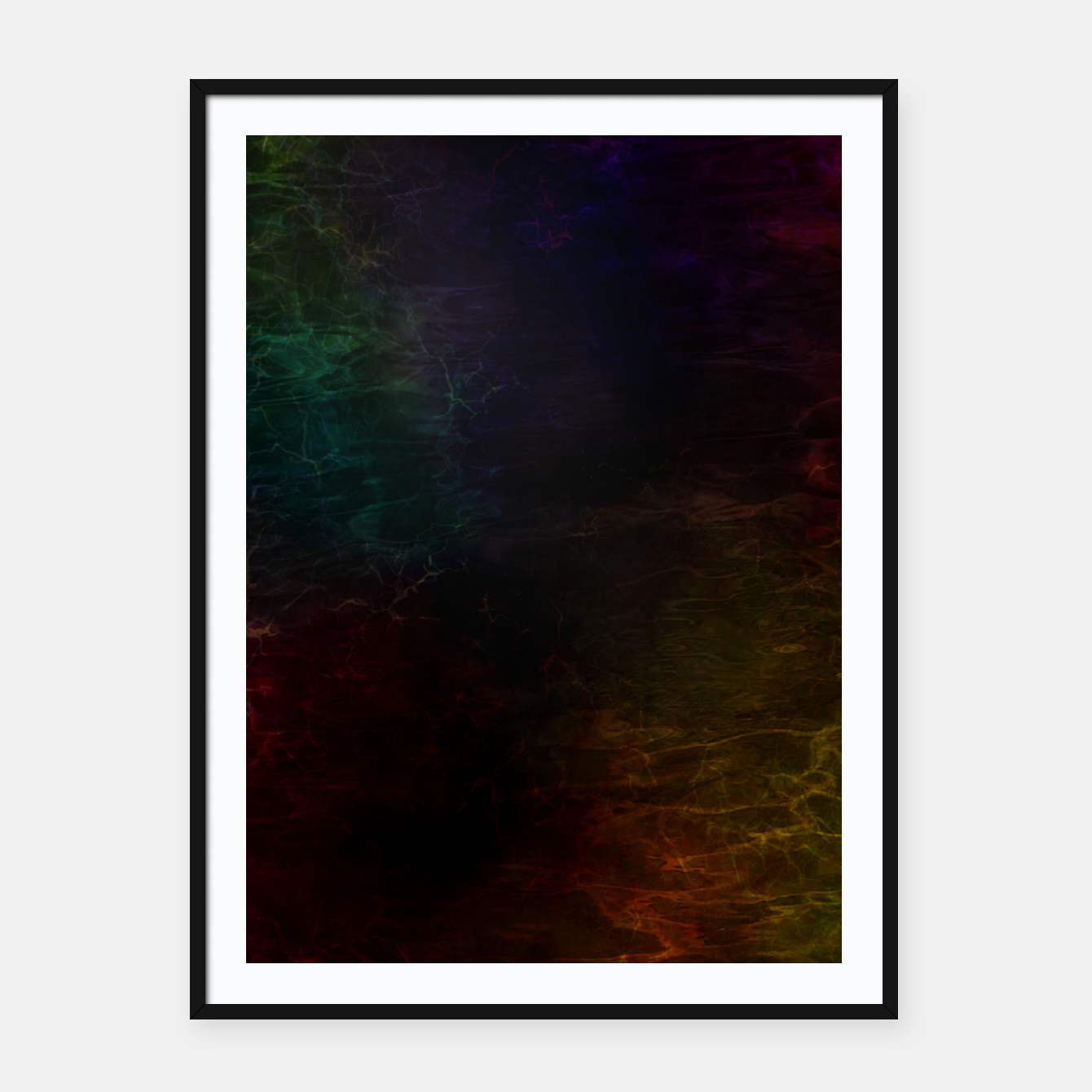 Image of colored water Framed poster - Live Heroes