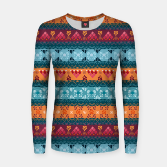 Thumbnail image of Tribal Pattern - 17 Laice Braid Women sweater, Live Heroes